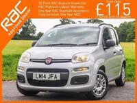 2014 Fiat PANDA 1.2 Easy 5 Door 5 Speed Air Conditioning 1 Private Owner 10,000