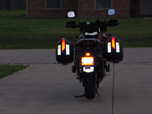 Black and White Reflective Tape for Motorcycles,Helmets and more