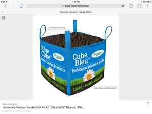 Blue bag, holds 1 cubic yard