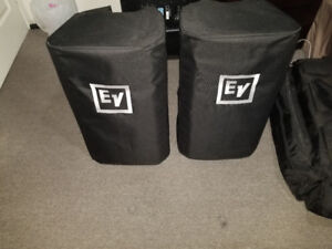 DJ EV ZLX12P POWERED SPEAKERS WITH COVERS