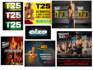 Insanity Max 30 Workout Fitness --Focus T25-Cize...Shaun T