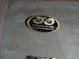 VINTAGE HONDA MOTORCYCLES 50 YEAR PINBACK-1948 TO 1998