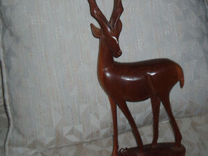 Hand Carved Solid Wood Antelope West Island Greater Montréal image 2