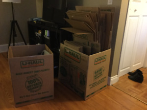 UHaul moving boxes