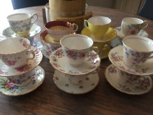 Lot of 14 Beautiful teacups