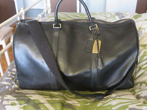 Leather Coach Carry-on bag