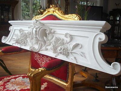 Stucco - wunderschöne Türbekrönung 104-378 aus Stuck -  Supraport 136 x 25 cm