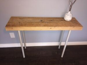 New Industrial Reclaimed Wood Console Table