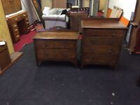 Fantastic vintage pair of chest of drawers can deliver
