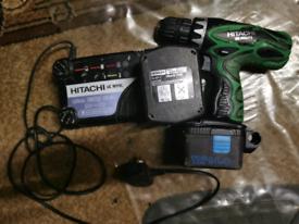 Hitachi 14.4V cordless drill