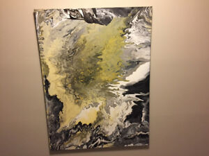 "Painting  36""x 48"" Acrylic Abstract"