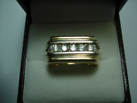 MENS GOLD & DIAMOND RING