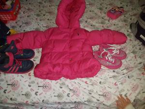 Veste et chaussure pour fille