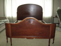 DOUBLE Bed Frame, solid wood, cherry