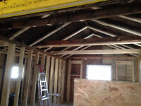 Load breaking walls removed beams posts framing open concept