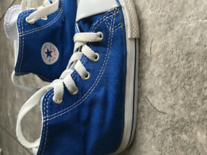 Converse All Star toddler blue high tops size 9T