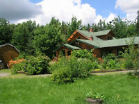 Large LOG HOME on 1.4 acre, near Bouctouche / Kent County
