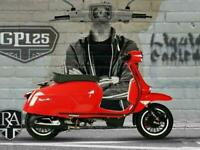 Royal Alloy GP 125 cc Modern Classic Retro Automatic Moped Scooter Liquid coo...