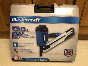 Mastercraft Air-Powered Clipped-Head Framing Nailer *NEVER USED*