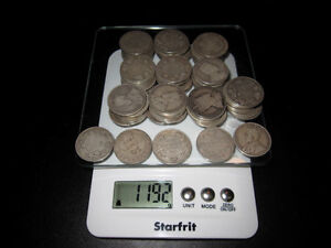Large sterling silver Canada 50 cent piece lot - 105 coins