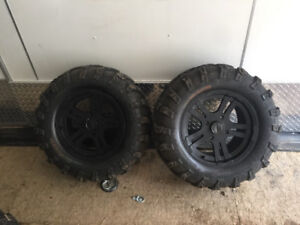 Atv tires and rim almost new