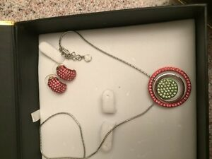 Necklace and matching earrings.