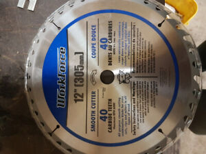 Two miter saw blades