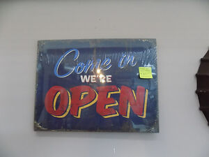 Signs Open, Closed, Beer, Pizza, Coffee, Garage  Call 727-5344