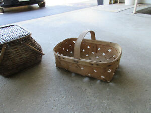 Antique woven wood basket