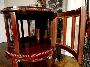 MAHOGANY chocolate tea table BEVELLED GLASS beautiful DECORATOR Cambridge Kitchener Area image 4