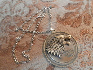 Game of Thrones House Stark Necklace/Medallion