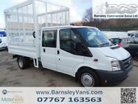 2011 11 FORD TRANSIT T350 115PS CREW CAB CAGED TIPPER EX COUNCIL DOUBLE CAB 85K