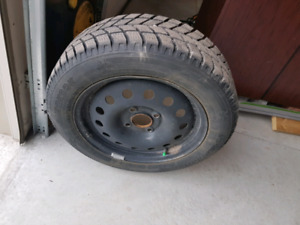 Winter snow tires  was on Ford Fiesta