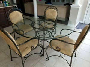 Glass 7 piece kitchen table