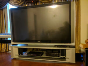 "TV and TV stand (Sony 70"" TV HD)"