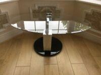 2 Harveys glass tables