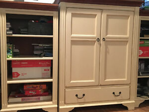 Ethan Allen media console and bookcases
