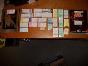 Various Vintage Rock N Roll Concert Tickets & Books