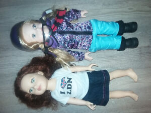 18 inch dolls One Journey Girl One Newberry