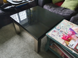 Glass coffee table/laptop table