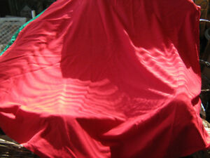 Red Circular 4 ft Table Cloth--Vintage -never used--$20.