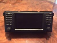 BMW X5 E53 sat nav screen