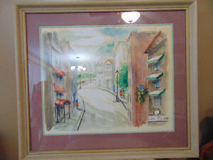 2 Beautiful paintings 1 Water colour and 1 oil painting London Ontario image 1