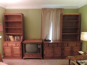 1950;s Style Maple Wall Unit