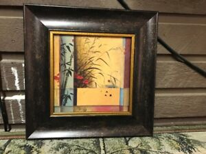 wood frame pictures x 2