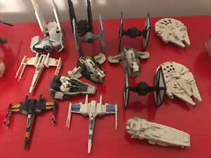 Star Wars diecast figures and vehicles and helmets