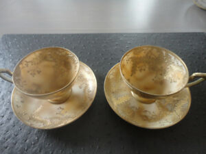 Antique NIPPON Tea Cups and Saucers