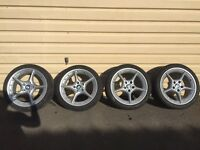 """Set of 18"""" inch BMW BBS Style 108 split rim staggered alloy wheels"""