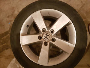 4 Honda civic rims  and all season tires Gatineau Ottawa / Gatineau Area image 1