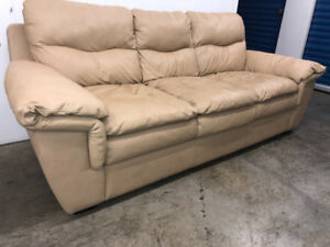 Beige leather COUCH - delivery